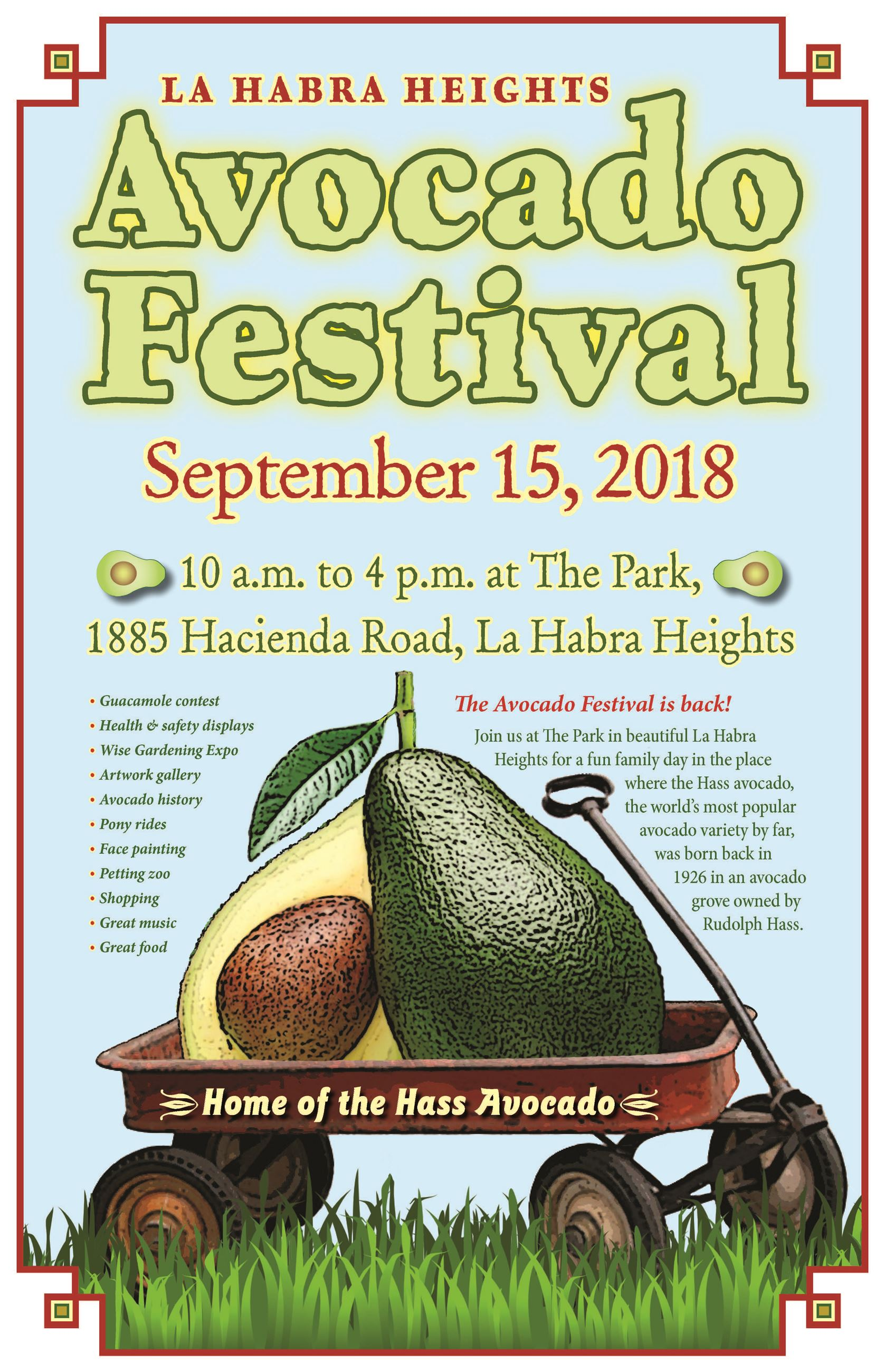 2018 Avocado Festival Official Poster