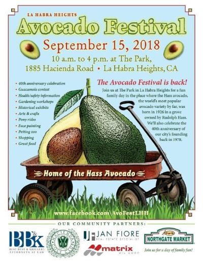 LHH Avocado Festival 2018 Flyer